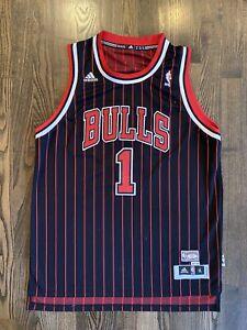 RARE Adidas HWC 95-96 DERRICK ROSE #1 Chicago Bulls Pinstripe Jersey Youth XL