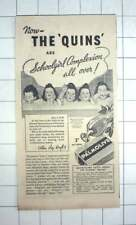 1936 Palmolive Advertising Featuring The Dionne Quintuplets Allan Roy Dafoe