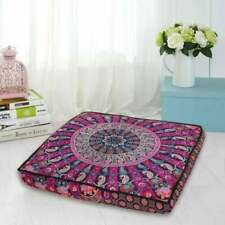 Gift Square Cushion Cover Handmade Indien Fancy Pillow Mandala Square Cover