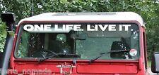 Defender Windscreen ONE LIFE. LIVE IT. Decal Sticker Land Rover Camel Trophy V2