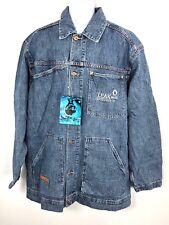 Leak Wear Jean Jacket Men's XXL 2XL Medium Rinse World's Toughest Denim Cotton