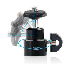 360° Swivel Mini Ball Head 1/4'' Screw DSLR Camera Tripod Slider Monopod