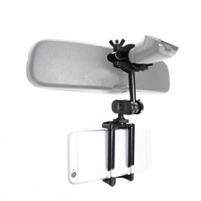 Car Phone Holder Rear Mirror Mount Mobile Bracket Universal 360° Cell Black GPS
