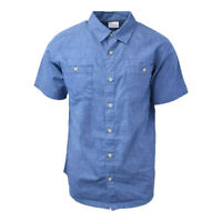 Columbia Men's Blue Kent Falls S/S Woven Shirt (Retail $45)