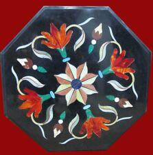 "18"" Marble Coffee Table Top Handicraft Inlay Pietra dura  Home Decor"
