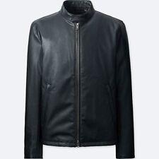 UNIQLO 'Faux Leather' Men's Rider / Motorcycle / Biker / Moto Jacket M Blk *NWT*