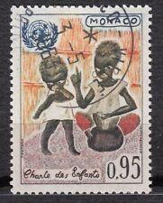 TIMBRE MONACO OBL N° 605   CHARTE DES ENFANTS  MAMAN NOIR ET SON ENFANT