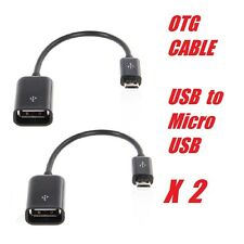 2 x OTG Cable Adapter Micro USB Male To USB Female For android Smartphone SWE