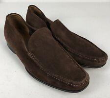 Bally Mens Brown Suede Slip On Loafers Dress Shoes Size 8 1/2 E Cupido UL