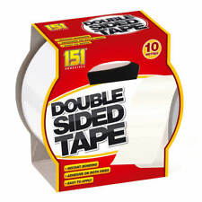 HEAVY DUTY DOUBLE SIDED ADHESIVE STICKY TAPE EXTRA STRONG STICKY TAPE 10M
