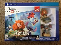 NEW Disney Infinity 2.0 Toy Box Starter Pack PS4 Kids Game Bundle *SEALED*