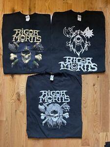 Rigor Mortis T Shirt Lot Of Thrash Metal Shirts 2XL