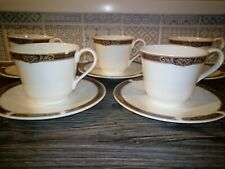 Royal Doulton Tennyson Hotel ware china tea cups and saucers set of 5 unused Eng