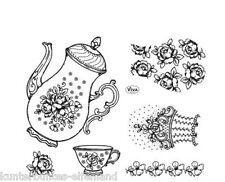 Silikon-Stempel * Kombistempel Kaffeekanne * Setgröße 14 x 18 cm * VIVA DECOR