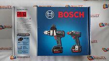 New Bosch CLPK224-181 18V HDH181X Hammer Drill & IDH182 Impact Driver- Combo Kit