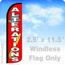 ALTERATIONS - Windless Swooper Feather Flag 2.5x11.5' Banner Sign - rz