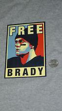 New England Patriots FREE BRADY Tom Brady Hero Portrait Bumper Sticker FREESHIP