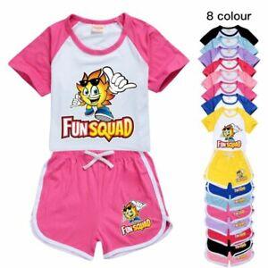 Fun Squad Gaming Kids Short Sleeve T Shirt Shorts Fun Games Causal 2Pcs Set