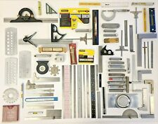 Large Lot of Machinist Tools: Wire, Feeler, Drill Gauges, Levels, Rulers & more.