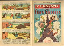 JOURNAL PIEDS NICKELéS 1950  N° 25  PELLOS ETAT RARE TTBE