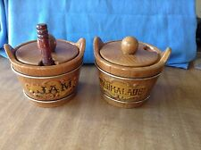 Lipper and Mann Creations Barrel Style Marmalade & Jam Serving  W/spoon Japan