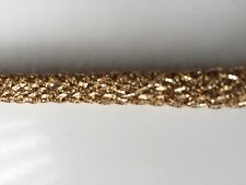 ATTRACTIVE GOLD STRETCH FABRIC CORD LACE TRIM  - SOLD by METRE