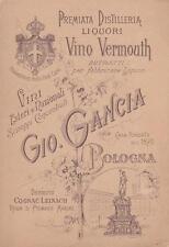 C3589) BOLOGNA, PREMIATA DISTILLERIA LIQUORI VINO VERMOUTH GIO. GANCIA. VG.