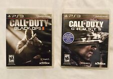 Call Of Duty Black Ops 2 II - PlayStation 3 - Call Of Duty Ghosts FREE Shipping!