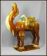 "Colossal ""Antique Chinese Tang Sancai Pottery Camel""(19.25"" High x 16"" Wide)"