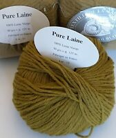 Lot 10 Pelotes 100% Pure Laine Vierge / Fabriqué en France / Vert Olive