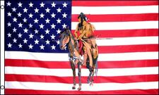 3x5 USA United States Indian on Horse Flag 3'x5' Banner Brass Grommets