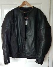 "Joe Rocket Black Leather Armoured Biker Jacket Size 2XL Chest 50""-52"""