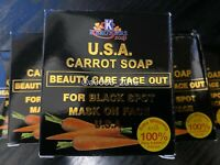 2x K. BROTHERS CARROT SOAP USA BEAUTY CARE FACE OUT FOR BLACK SPOT MASK ON FACE