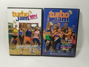 Turbo Jam Beachbody Lot of 6 Workout Exercise DVDs - C27-7