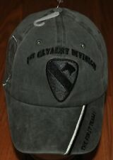 OD 1st First Cavalry Division Army Hat Baseball Ball Cap The First Team Grey