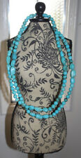 """Native American 🌸 Turquoise Nugget Necklace, Varying stone sizes  19"""""""