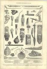 1873 Antico curioso TABACCO PIPE salone internazionale Groenlandia Turchia Jav