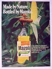1978 Mazola Corn Oil Bottle Vintage Magazine Print Advertisement Page