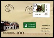Frosch. Tiere aus Zoo in Riga. FDC-Brief nach BRD. Lettland 2012