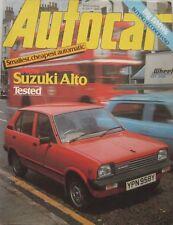 Autocar magazine 9 July 1983 featuring Suzuki Alto road test