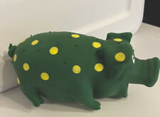 1 Multipet Polka Dot Pig Latex Dog Squeaky Squeeze Toy Great Stocking Stuffer