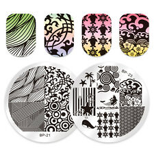 Born Pretty Nail Art Stamping Plates Abstract Mixed Image Stamp Template Decor