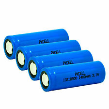 PKCELL 4pcs ICR 18500 1400mAh 3.7V Rechargeable Lithium Li-ion Battery US SHIP
