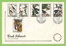 Cook Islands 1985 Audubon Bi centenary, Birds set on First Day Cover