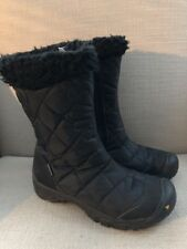 KEEN DRY BLACK QUILTED BETTY WINTER SNOW BOOTS WOMENS SIZE 6.5