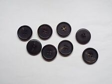 8pc 25mm Ebony Black Faux Horn Suit Coat Cardigan Knitwear Button 4660