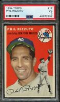 1954 Topps FB Card # 17 Phil Rizzuto New York Yankees HOF PSA VG 3 !!!
