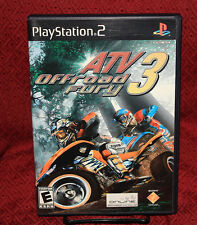 ATV Offroad Fury 3 PS2 COMPLETE CIB Black Label Free Shipping Sony Playstation