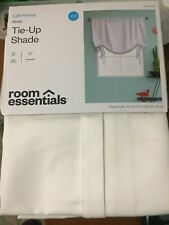 "Room Essentials White Tie-Up Shade 63"" Light-filtering Rod Pocket"