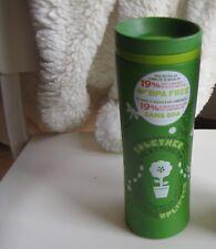 Starbucks Recycled BPA Free Reusable Travel Tumbler Mug Green Twist Top 8 oz
